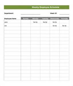 Employees Schedule Template by Employee Schedule Template 5 Free Word Excel Pdf
