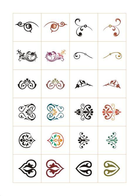 design elements cdr colored floral ornaments design elements vector vector