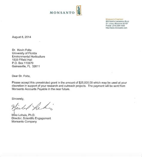Confirmation Letter Receiving Email Monsanto Money Letter To Kevin Folta Emerges Discredited