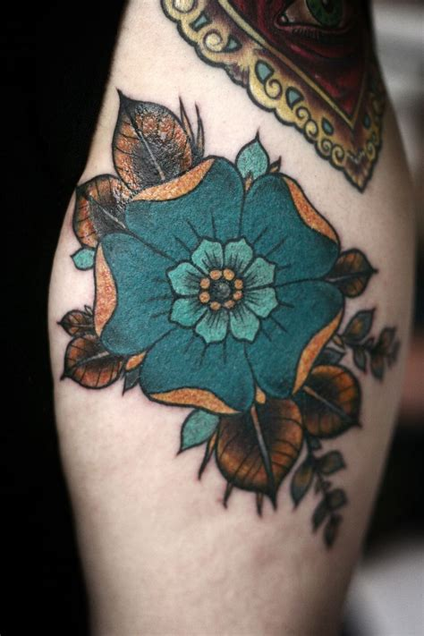teal tattoo gold and teal perfection by carrier at anatomy