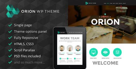 wordpress theme orion free plantillas wordpress orion responsive one page