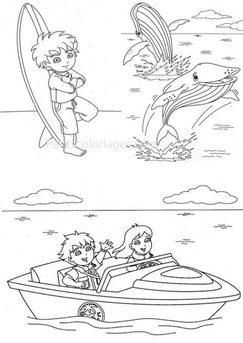 Coloriage Baleine et enfants dessin gratuit à imprimer
