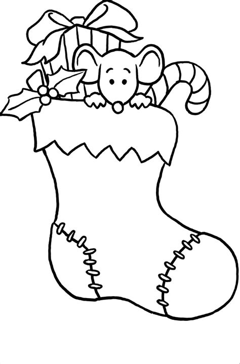 christmas stocking coloring pages az coloring pages