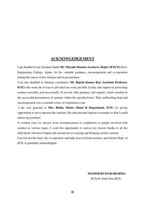 Acknowledgement Letter Exle For Thesis Exle Acknowledgement Of Thesis