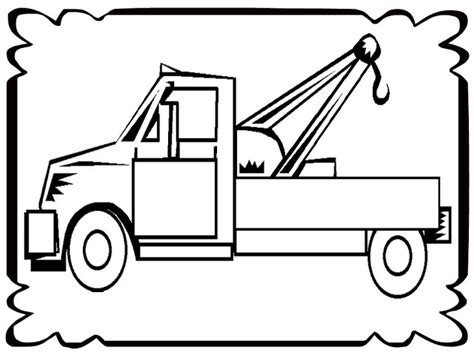 tow truck coloring page printout tow truck coloring pages realistic coloring pages