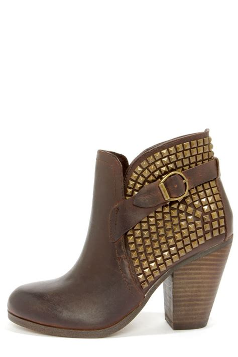 steve madden alani boots brown boots ankle boots