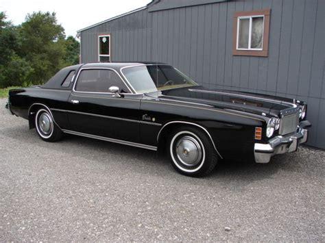 1975 Chrysler Cordoba For Sale by 1975 Chrysler Cordoba 360 Black Original 1 Owner
