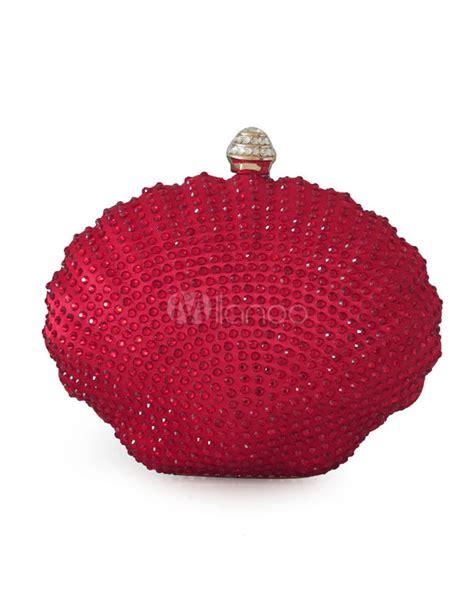 Shell Shape Clutch shell shape rhinestone acrylic clutch bag for
