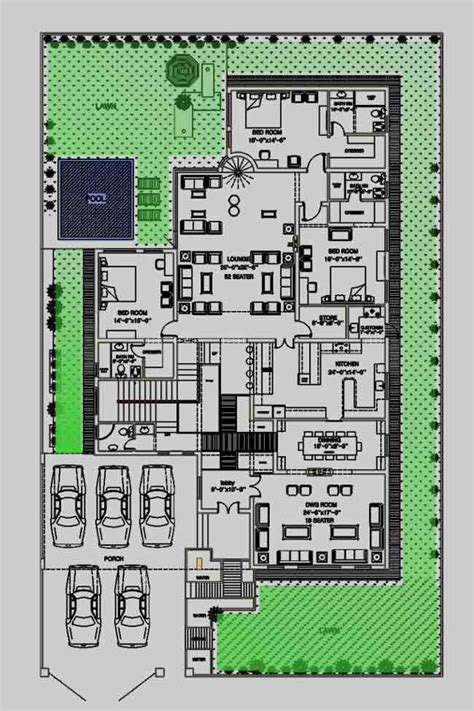 house floor plan by 360 design estate 2 kanal