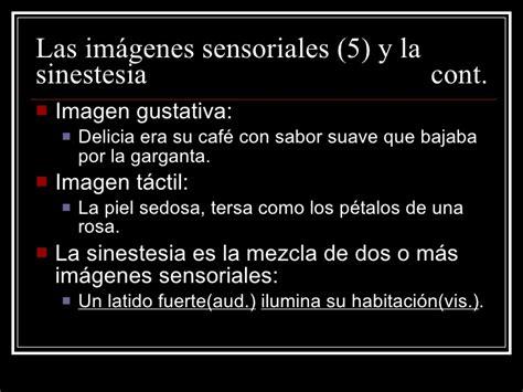 imagenes sensoriales ejemplos en poemas la poes 237 a