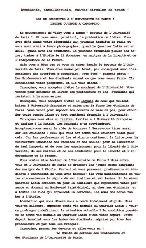 Exemple De Lettre Ouverte Célèbre Exemple De Lettre Ouverte Contre La Guerre