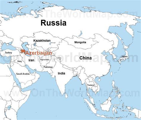 where is azerbaijan on a world map azerbaijan on the world map azerbaijan on the asia map