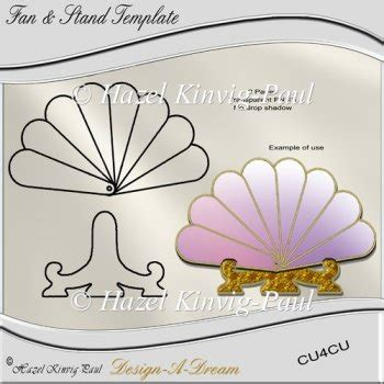 fan and card template fan stand template 163 3 00 instant card downloads