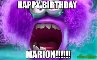 Marion Memes - happy birthday marion meme purple minion 91174