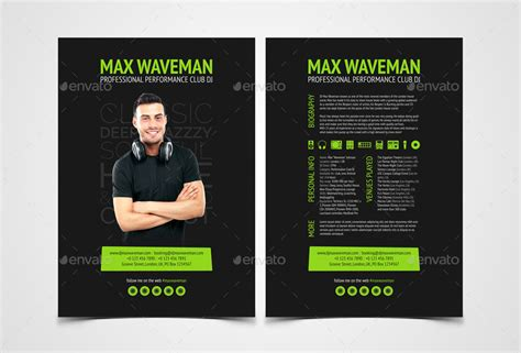 groove dj press kit resume psd template by vinyljunkie