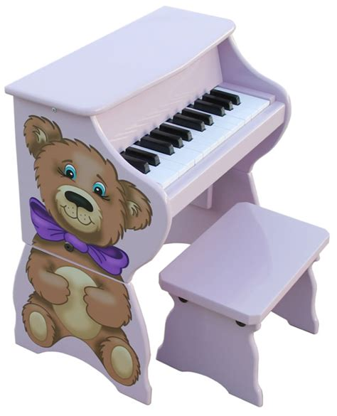 toddler piano with bench teddy bear toy piano with bench