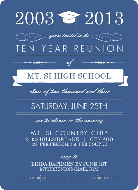Reunion Invitation Card Templates by 25 Best Ideas About Class Reunion Invitations On