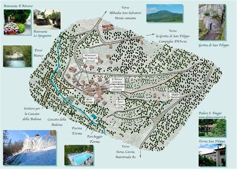 i bagni di san filippo mappa di bagni san filippo