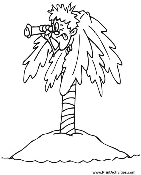 image gallery island coloring pages