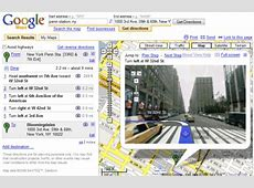 Google Combines Driving Directions with Street View Mapquest Driving Distances Google