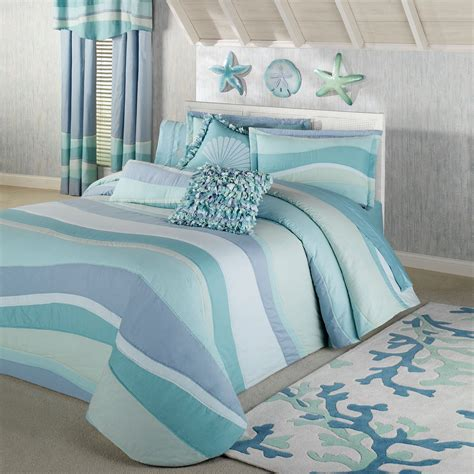blue bed spread tides coastal grande bedspread bedding