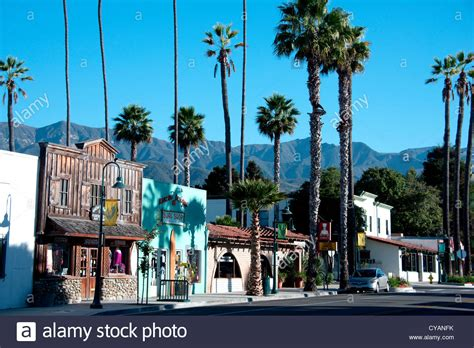 small american town main street of small american town of carpinteria on the