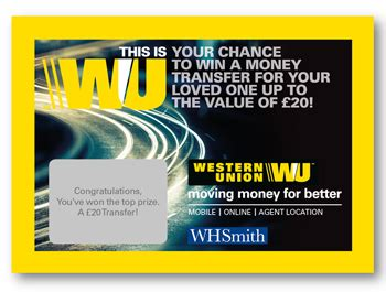 Competition To Win Money - competition win a money transfer with western union