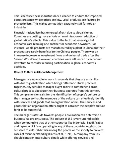 Cross Cultural Experience Essay by Cross Cultural Management Essay