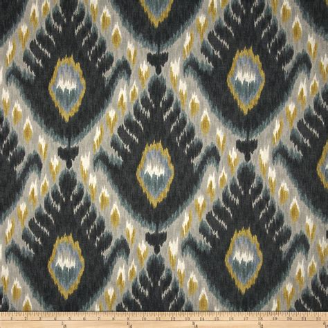 Bold Upholstery Fabric by Robert Allen Home Bold Ikat Mineral Discount Designer
