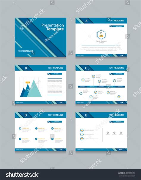 abstract business presentation template slides background