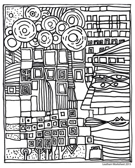 libro hundertwasser colouring book colouring hundertwasser style line art feel free to use it art free art lessons and