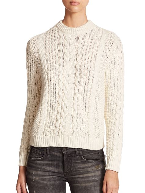 ralph cable knit sweater polo ralph cable knit sweater in lyst