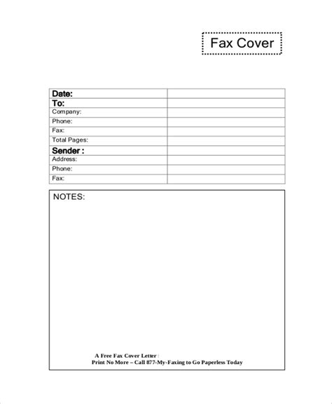 business fax template sle fax cover letter 7 documents in pdf word