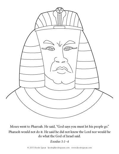 Pharaoh And Moses Coloring Pages by Coloring Page Pharaoh Kevin H Spear
