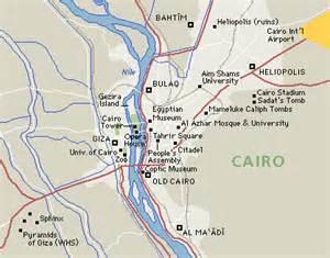 map of cairo cairo city capital of