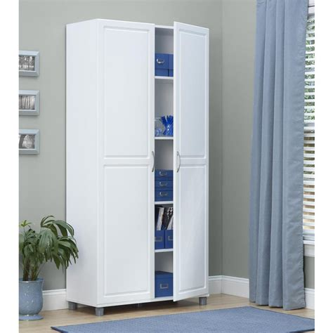white storage armoire systembuild kendall white storage cabinet 7363401pcom