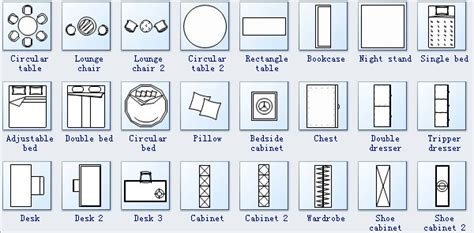 floor plan symbols chart easy 2d architectural design software