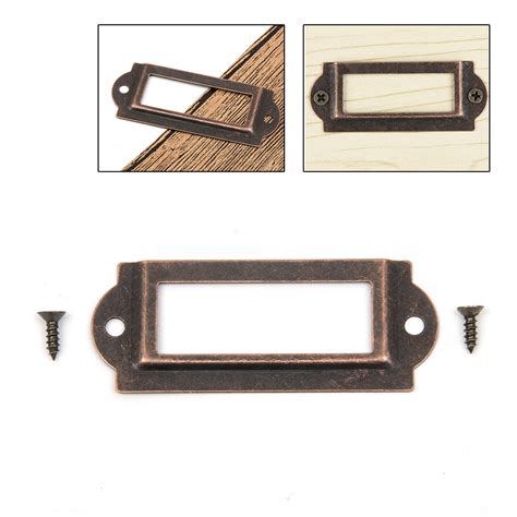 Metal Drawer Labels by File Cabinet Label Holders Metal Mf Cabinets