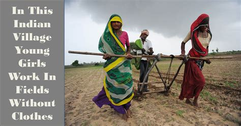 in this indian villages work in farm