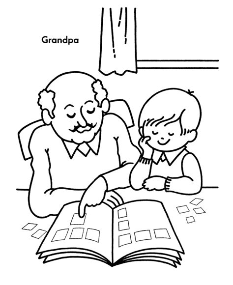 coloring page for grandparents day grandparents day coloring pages grandpa teaches me