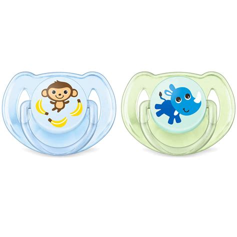 Philips Avent Orthodontic Soothers 6 18m philips avent classic soothers monkey rhino 6 18m 2pk