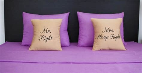 Mr Right Mrs Always Right Pillow by Mr Right Mrs Always Right Pillow Set For 17 99 Shesaved 174
