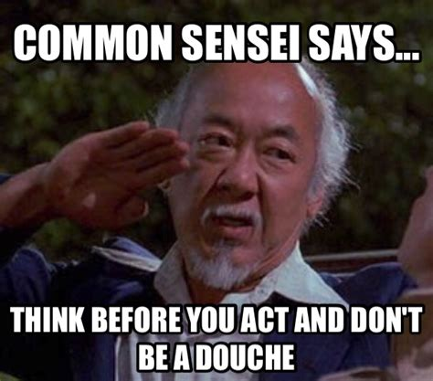 Mr Miyagi Meme - c mon reddit help me spread the common sense bitchslaps