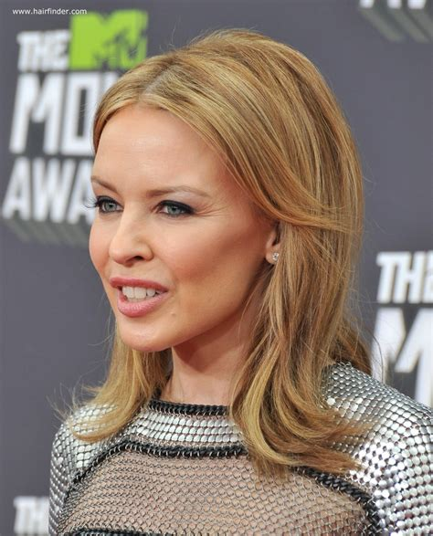 Minogue Hairstyles by Shoulder Length Minogue Signature Hairstyle