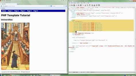 How To Create Template In Php by Php Tutorial How To Create And Use Templates