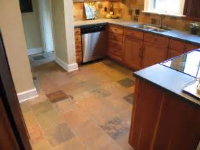 Slate Kitchen Floor A Cherry And Slate Kitchen In Butler Tarkington Wrightworks Llc