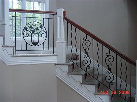 exciting staircase decorating design ideas with black iron