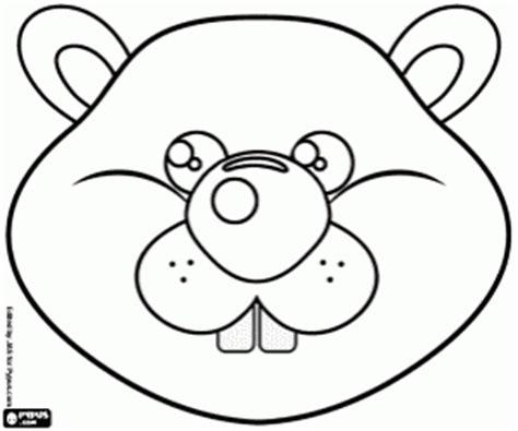printable groundhog mask a groundhog mask coloring page printable game