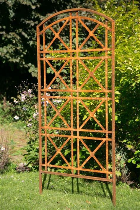 rankgitter aus metall rankgitter metall stockholm roheisen rost 80cm breit