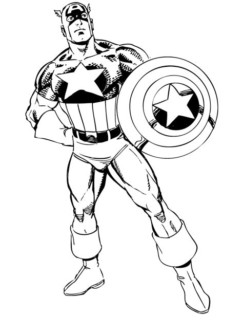 Captain America Face Coloring Pages Coloring Pages Captain America Color Page